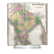 1827 Finley Map Of India  Shower Curtain