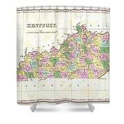 1827 Finley Map Of Kentucky Shower Curtain