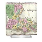 1827 Finley Map Of Louisiana Shower Curtain