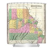 1827 Finley Map Of Missouri Shower Curtain