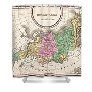 1827 Finley Map Of Russia In Asia Shower Curtain