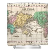 1827 Finley Map Of The World Shower Curtain
