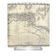 1829 Lapie Historical Map Of The Barbary Coast In Ancient Roman Times Shower Curtain