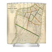 1831 Hooker Map Of New York City Shower Curtain