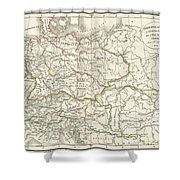1832 Delamarche Map Of Germany In Roman Times Shower Curtain