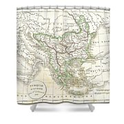 1832 Delamarche Map Of Greece And The Balkans Shower Curtain