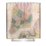 1835 David Burr Map Of New York City Shower Curtain