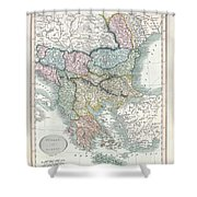 1836 Cary Map Of Greece And The Balkans Shower Curtain