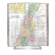 1836 Tanner Map Of Palestine  Israel  Holy Land Shower Curtain