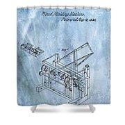 1836 Wood Molding Machine Shower Curtain