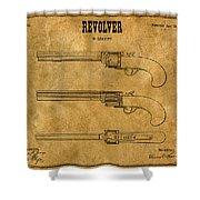 1837 Leavitt Revolver Patent Art 1 Shower Curtain
