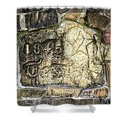 1845 Republic Of Texas - Carved In Stone Shower Curtain