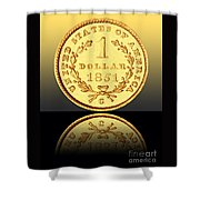 1851 1 Dollar Rare Charlotte Gold Shower Curtain by Jim Carrell