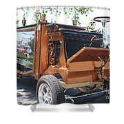 1852 Cunningham Hearse With 383 Chevy Stroker Engine Shower Curtain