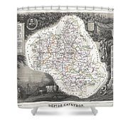 1852 Levasseur Map Of The Department L Aveyron France Roquefort Cheese Region Shower Curtain