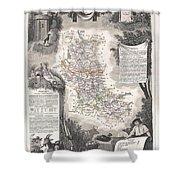 1852 Levasseur Mpa Of The Department De La Loire France Loire Valley Region Shower Curtain
