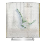 1853 Uscs Map Of Cape Charles And Vicinity Virginia Shower Curtain