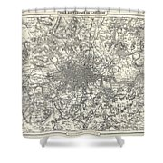 1855 Colton Map Of London Shower Curtain