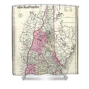 1857 Colton Map Of New Hampshire Shower Curtain