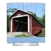 1860 Ceylon Bridge Shower Curtain