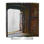 1861 Cannon Turret Fort Point San Francisco Bay Shower Curtain