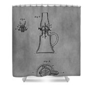 1861 Oil Lamp Patent Shower Curtain