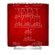 1873 Brewing Beer And Ale Patent Artwork - Red Shower Curtain