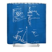 1881 Taylor Camera Obscura Patent Blueprint Shower Curtain