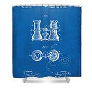 1882 Opera Glass Patent Artwork - Blueprint Shower Curtain