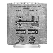 1885 Beer Tap Patent Charcoal Shower Curtain