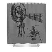 1889 Windmill Patent Shower Curtain