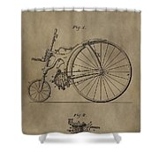 1890 Bicycle Patent Shower Curtain