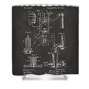 1890 Bottling Machine Patent Artwork Gray Shower Curtain