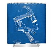 1890 Hammer Patent Artwork - Blueprint Shower Curtain