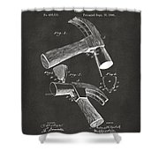 1890 Hammer Patent Artwork - Gray Shower Curtain