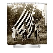1890 The Young Patriots Shower Curtain by Historic Image
