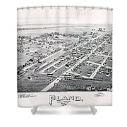 1890 Vintage Map Of Plano Texas Shower Curtain