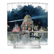 1890s Night In Grand Court Of World Shower Curtain
