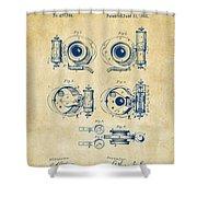 1892 Barker Camera Shutter Patent Vintage Shower Curtain