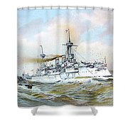 1895 - The Brandenburg Squadron At Sea - Color Shower Curtain