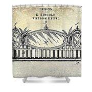 1895 Wine Room Fixture Design Patent Shower Curtain