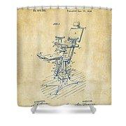 1896 Dental Chair Patent Vintage Shower Curtain