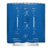 1896 Dental Excavator Patent Blueprint Shower Curtain