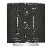 1896 Dental Excavator Patent Gray Shower Curtain