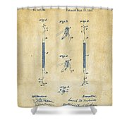 1896 Dental Excavator Patent Vintage Shower Curtain