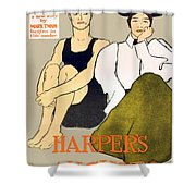 1897 - Harpers Magazine Poster - Color Shower Curtain