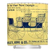 1898 - Hawley King And Company - Surrey Buggy Advertisement - Color Shower Curtain