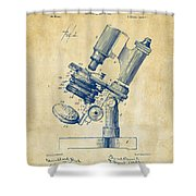 1899 Microscope Patent Vintage Shower Curtain