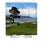18th At Pebble Beach Panorama Shower Curtain