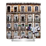 18th Century Building In Lisbon Shower Curtain